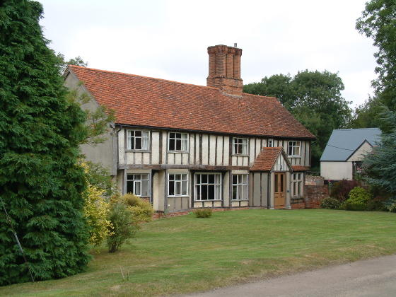 A large Tudor farmhouse